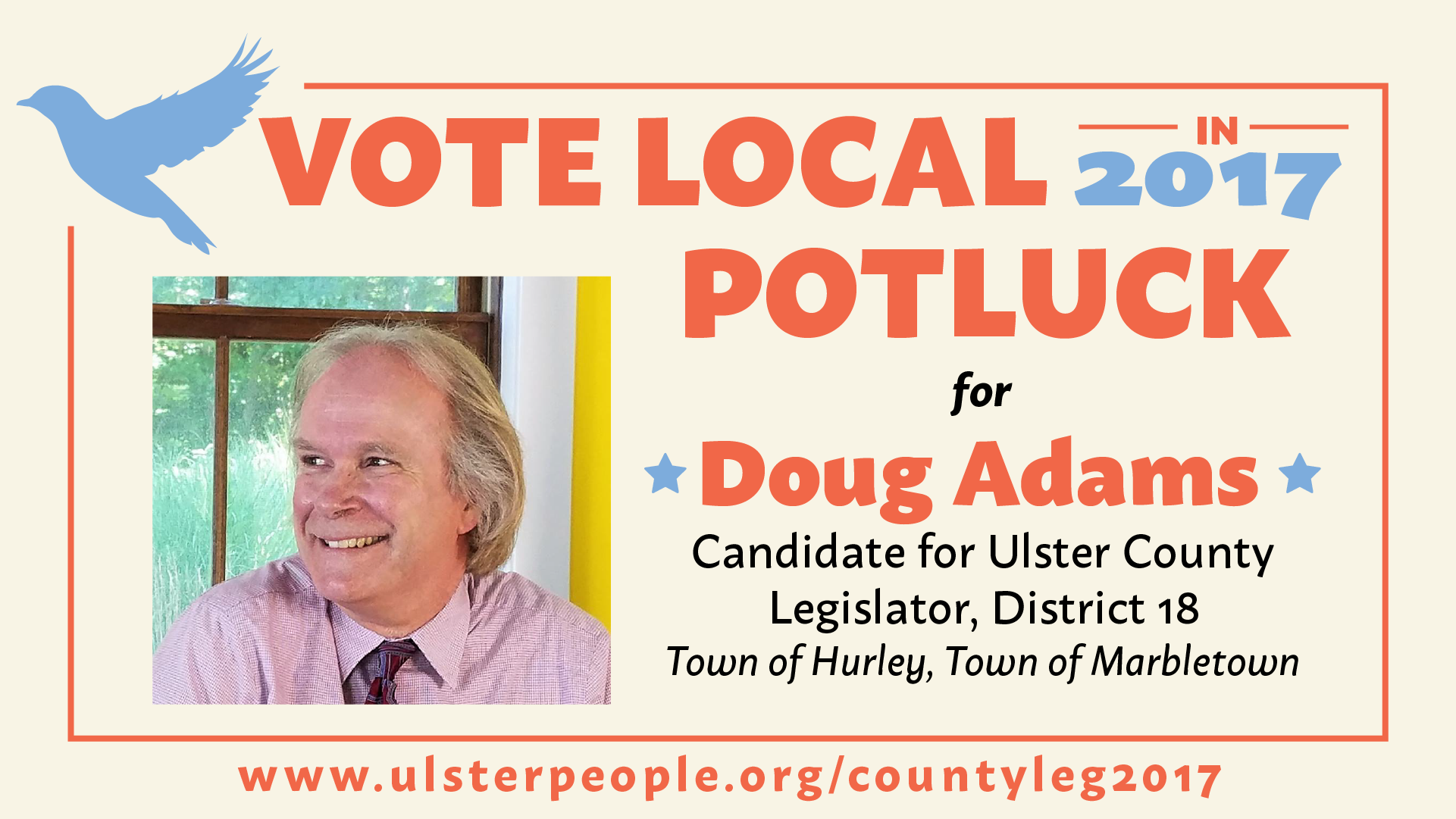 Vote Local Potluck for Doug Adams