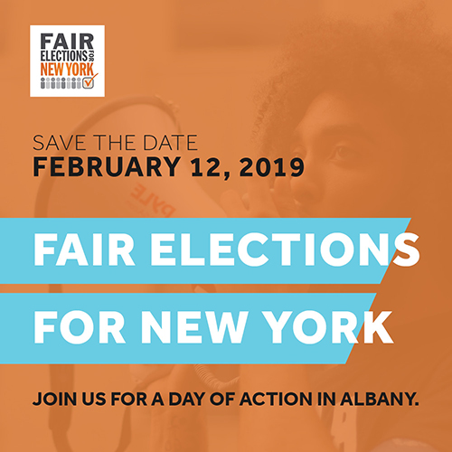 Fair Elections for NY Feb 12 Day of Action